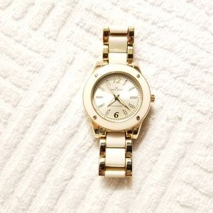 Anne Klein Gold Tone Watch Luminous Hands